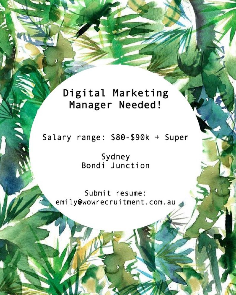We are currently seeking a full time Digital Marketing Manager with Paid Search experience to join a well established Travel Organisation in the Eastern Suburbs!• •Contact Emily for more info - emily@54.66.210.215