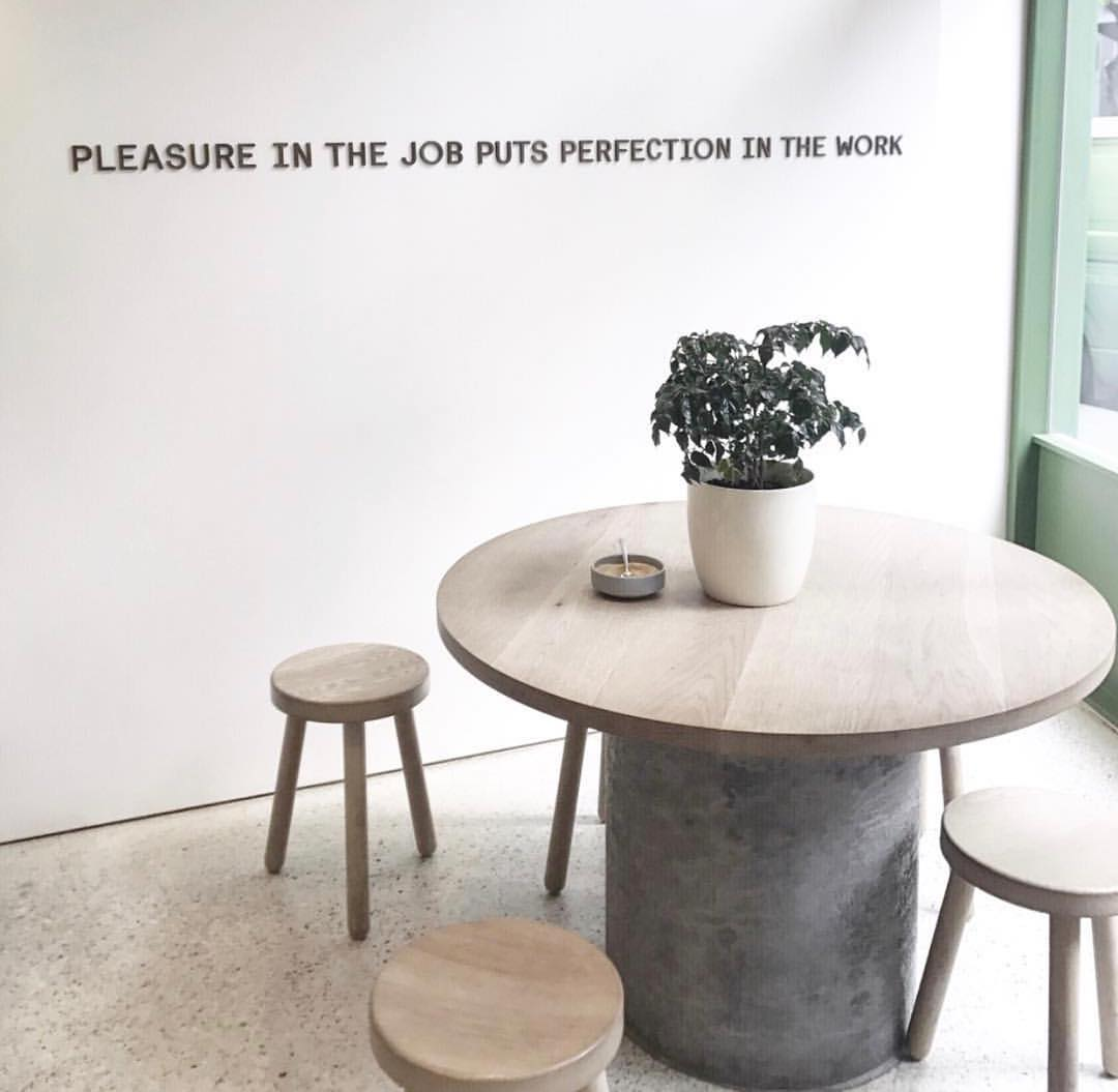 """""""Pleasure in the job puts perfection in the work""""  @theblacklayers"""