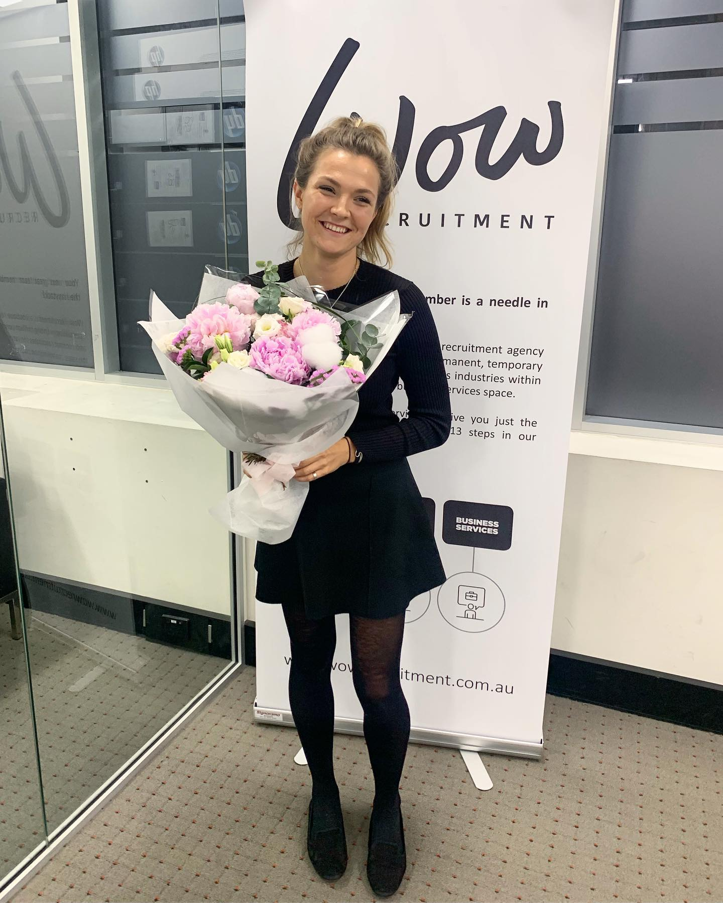Congratulations to Holly on her first placement  Well done! We're so happy to have you on the team!