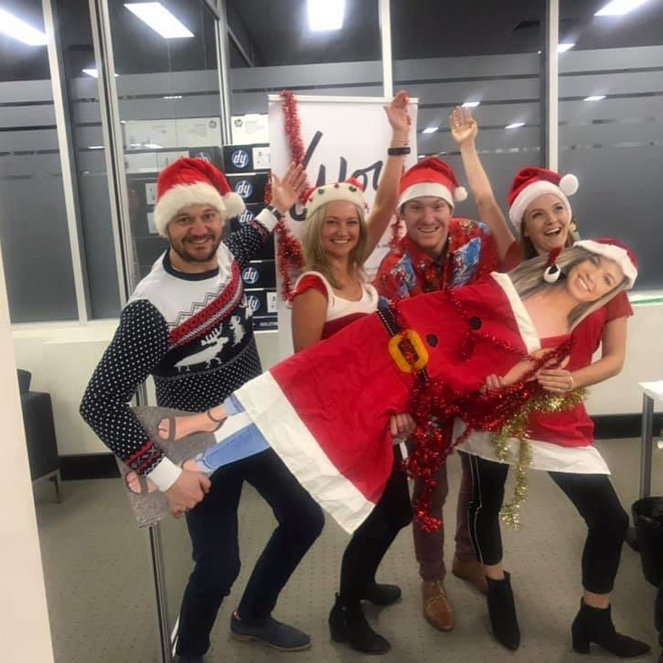 Our Christmas in July party whilst Emily was away in Italy... who said you can't be in two places at once? �