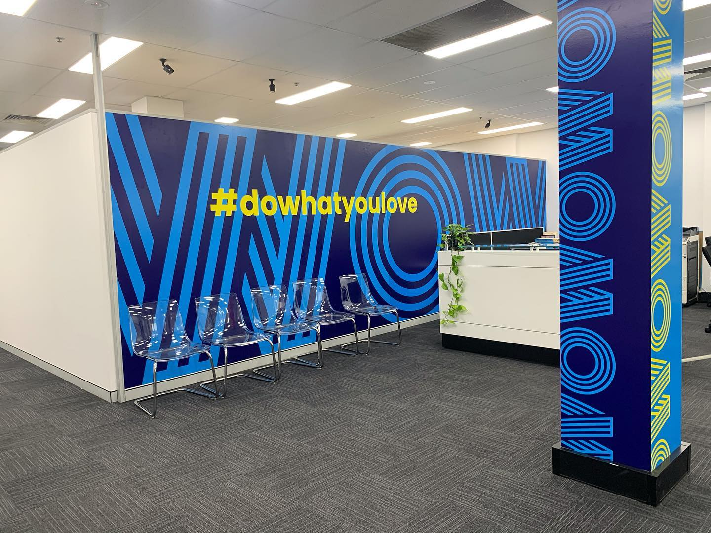 What an incredible surprise to return to in 2020!!!  We have been working on our rebrand for just under a year and can't believe it's almost ready to share with you all. We have redefined our brand identity to align with our vision and our core values. Here's the first look at our new reception area #dowhatyoulove