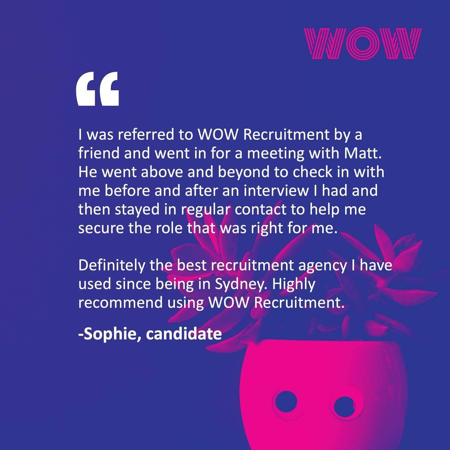 Here's what our candidates have to say about working with Matt O'Donohoe!