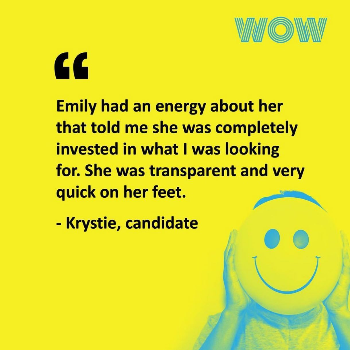 Here's what our candidates have to say about working with us!