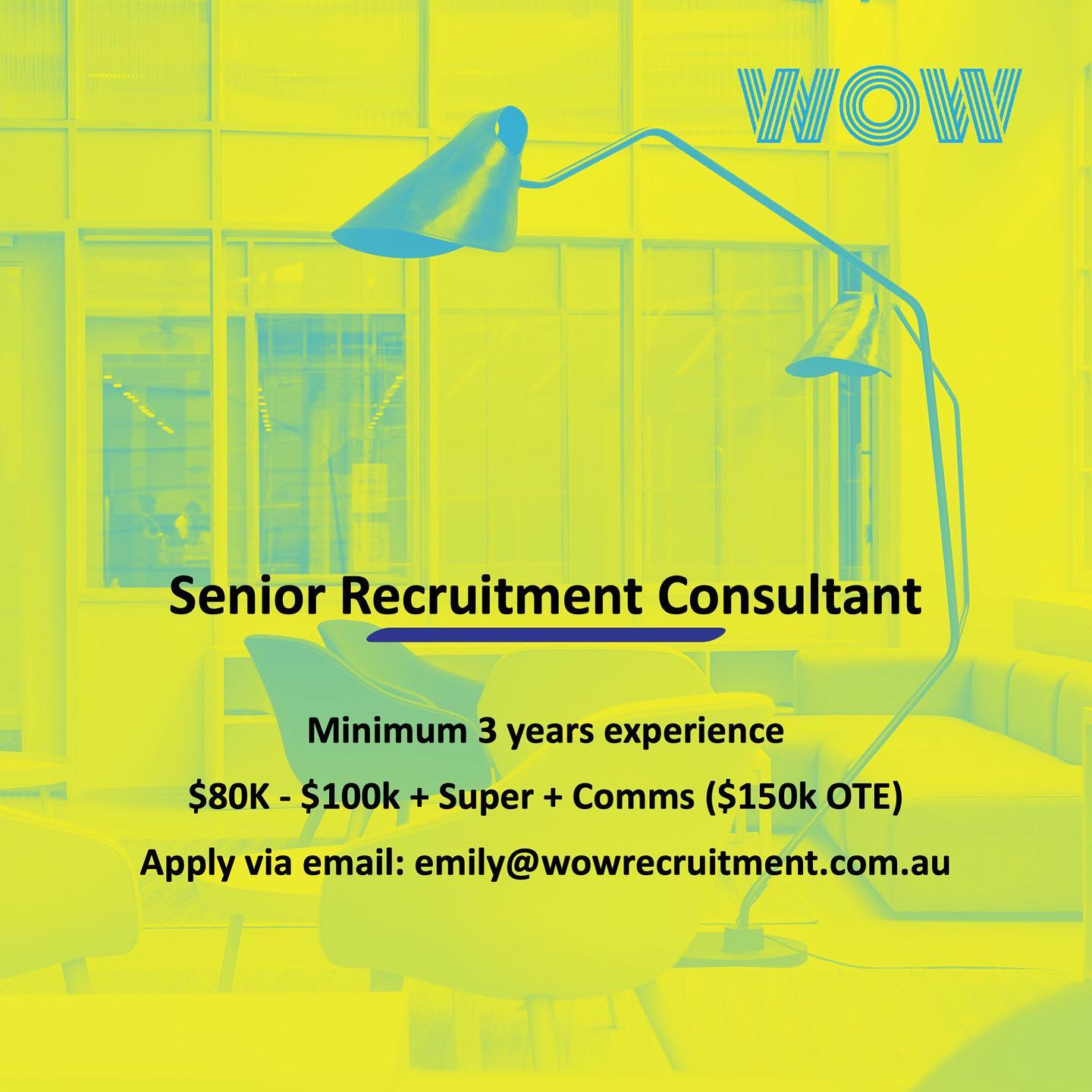 We're growing! Why not join the WOW team... 🤷🏽♀️. At WOW we've always nurtured soft skills. Critical thinking, curiosity, great communication and empathy - when married to natural talent - are a compelling force that make a truly great work place. That's what working at WOW feels like - it's a supportive, empowering, sky's-the-limit kind of vibe where consultants and their input are truly valued. .We want to see how far you can go - and we'll give you the support and resources to get there. . So if you're a senior recruiter looking for a fresh start, let's go! Let's craft your career together. . #workhappy #recruitmenthappy #dowhatyoulove