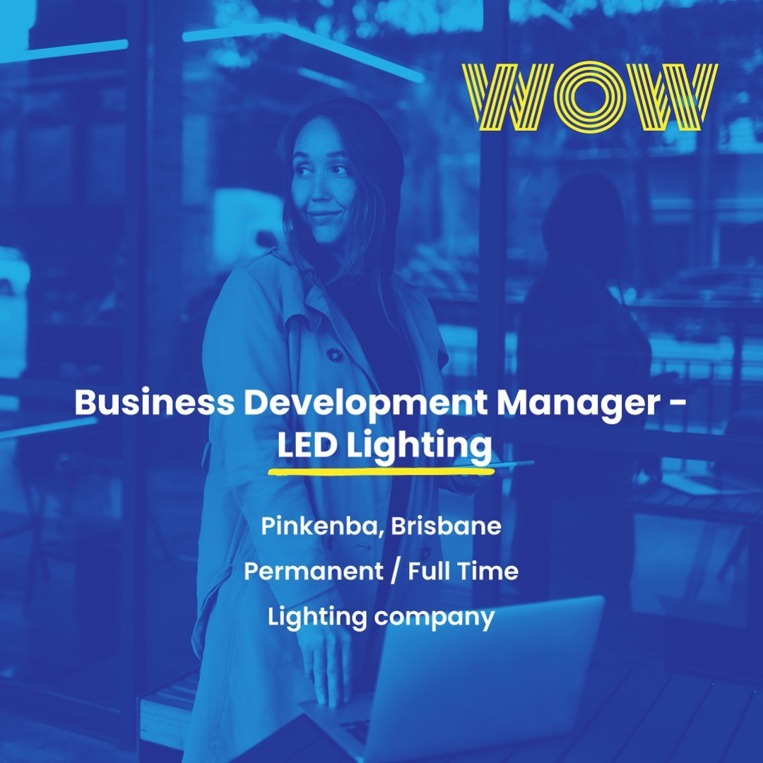Be part of a growing, positive-impact driven company in the lighting industry that offers a flexible workplace and the freedom of creative control. Here's your chance to be part of an organisation that gives back, with 50% of profits donated to charity. Check out the link below for more info https://wowrecruitment.com.au//job-detail/?id=1147609#WorkHappy #RecruitmentHappy #SalesJobs