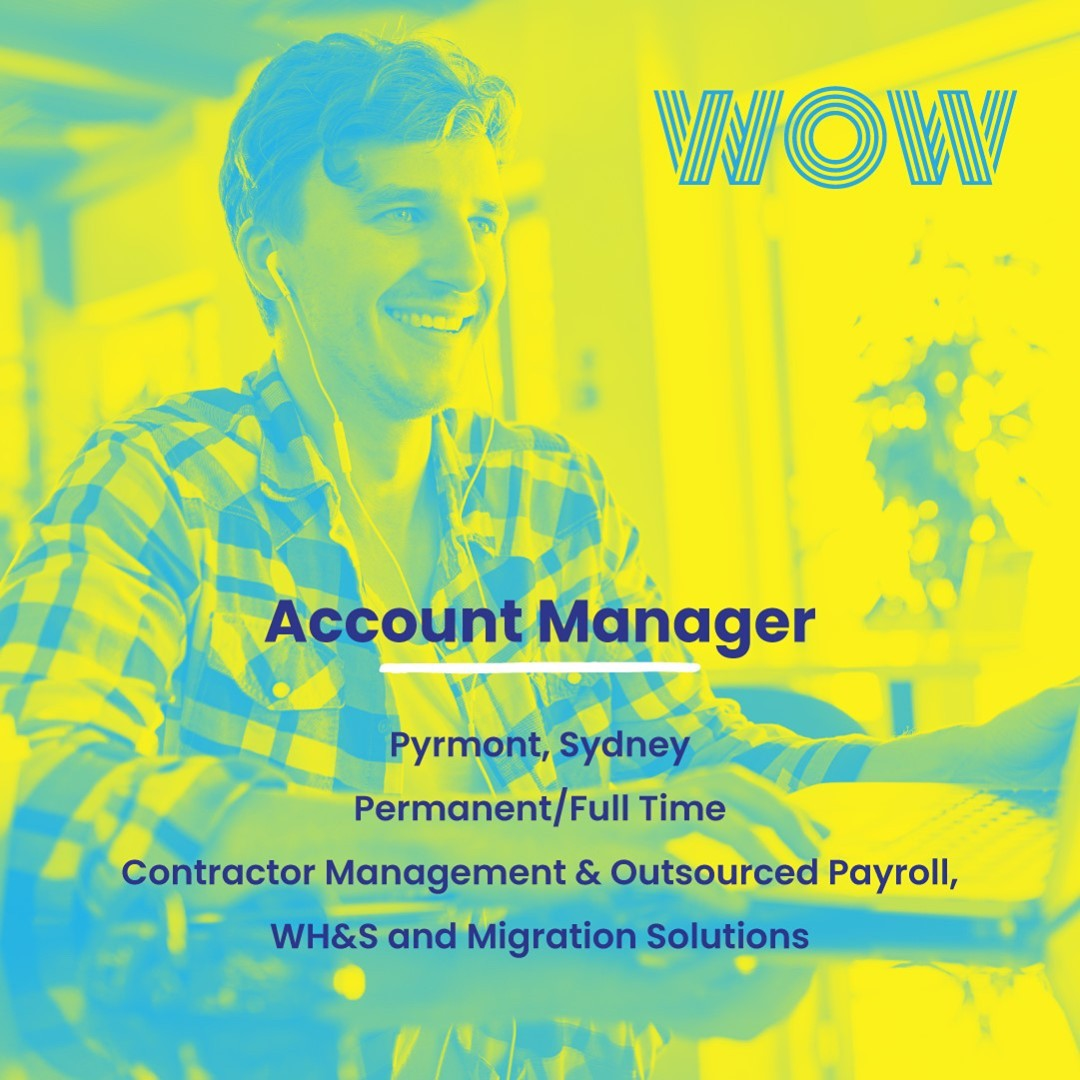 Join a dedicated, client-focused company specialising in Contractor Management and Outsourced Payroll solutions in this exciting and career-enhancing role. Enjoy a flexible work environment, competitive salary package plus a swanky water-front office based in Pyrmont! Interested? Learn more, here https://wowrecruitment.com.au//job-detail/?id=1142011#RecruitmentHappy #WorkHappy