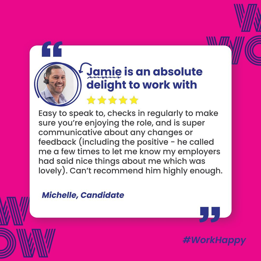Attentive, proactive, positive. Looking for a career you'll love? Get in touch with Jamie and the team, here: https://wowrecruitment.com.au//contact-us-2 #WorkHappy #Wecruitement
