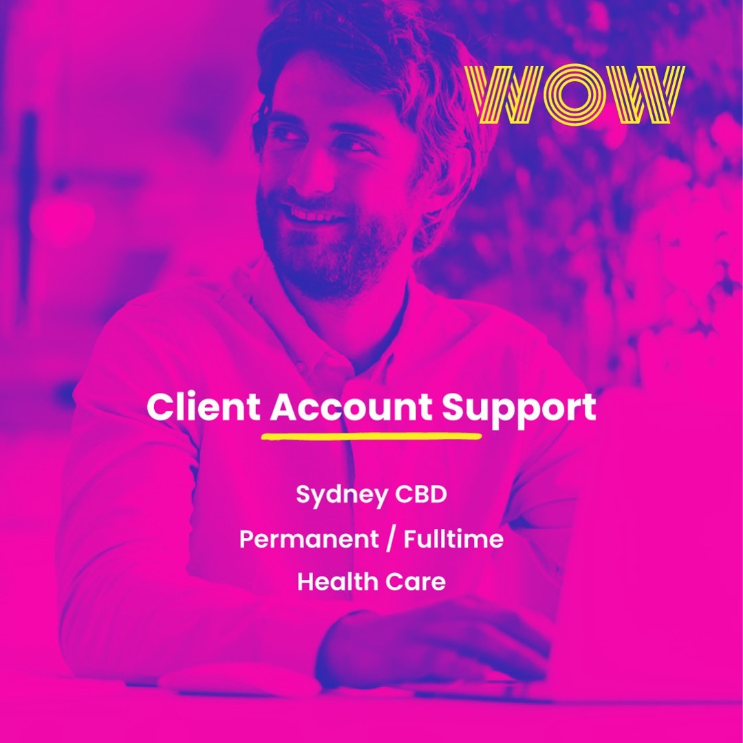 Here's an amazing full-time opportunity at a globally renowned healthcare company that offers flexible hours and a competitive salary package! Ready to join a passionate and hardworking team? Click below to find out more https://wowrecruitment.com.au//job-detail/?id=1154295