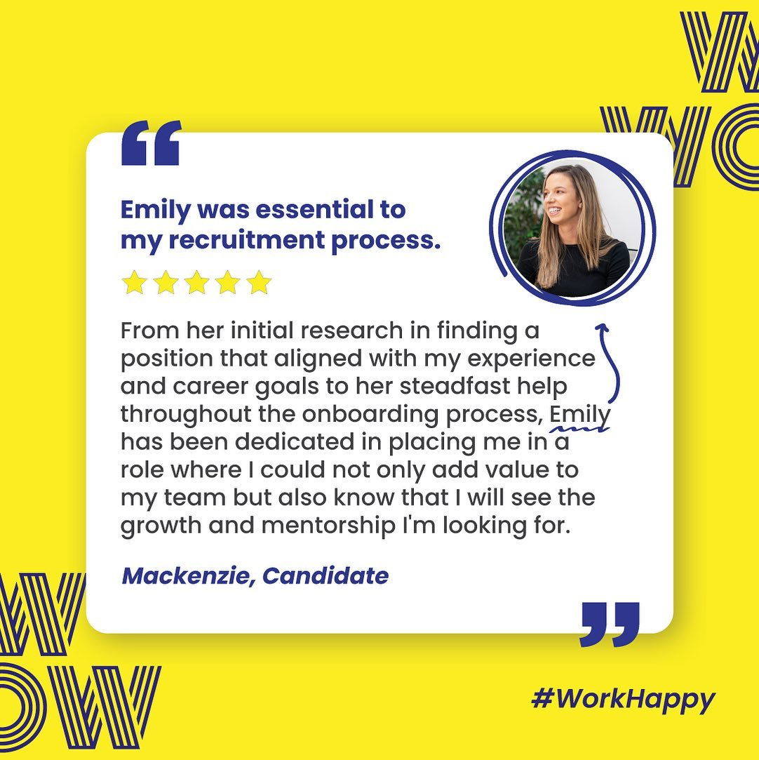 Another happy candidate, another calling found. Say yes to your career. Get in touch with us, here  https://wowrecruitment.com.au//contact-us-2/#WorkHappy #RecruitmentHappy