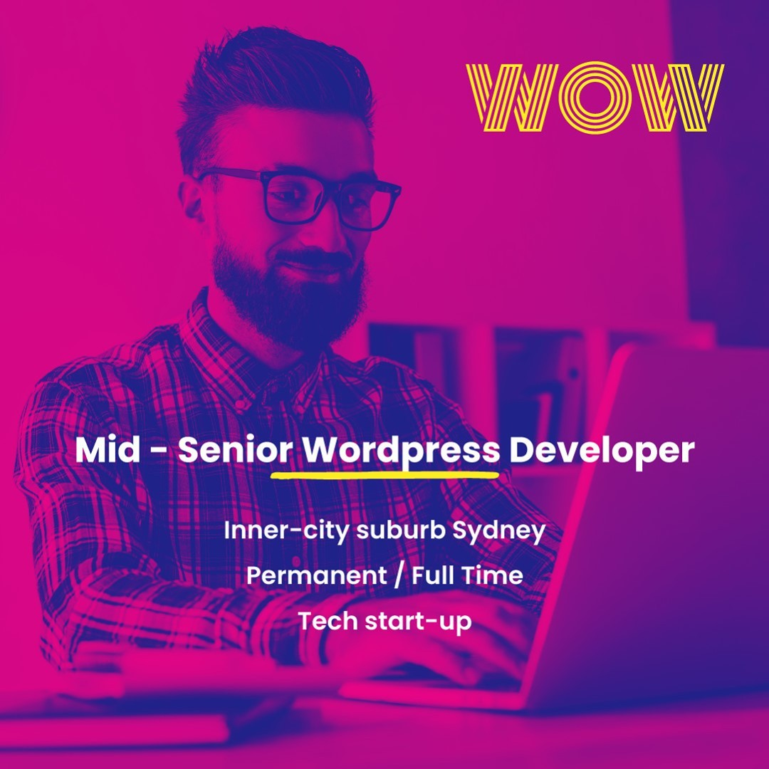 Build and maintain websites across multiple brands at a flourishing tech start-up in the renewable energy space. With flexible work hours, relaxed attire, and an amazing team environment this is a fantastic opportunity! Find out more below https://wowrecruitment.com.au//job-detail/?id=1167908#WorkHappy #TechJobs
