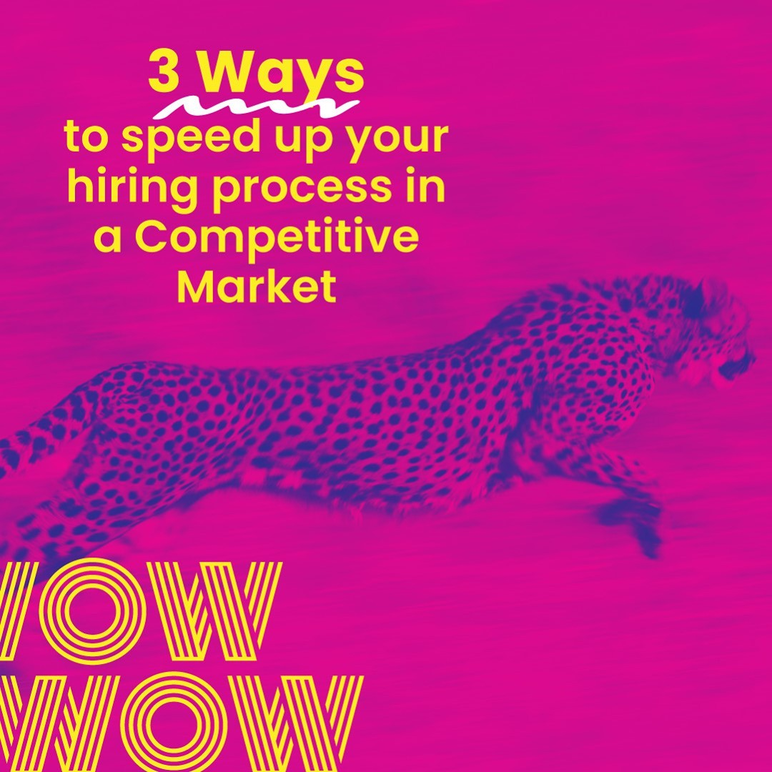 We often hear people talk about the 'war for talent' and the need to move quickly to secure the right people. Great, but precisely what should you as a hiring manager be doing differently?Read our latest blog for three quick, effective and market-tested methods: https://wowrecruitment.com.au//3-ways-to-speed-up-your-hiring-process-in-a-competitive-market/#RecruitmentHappy #HireGreat