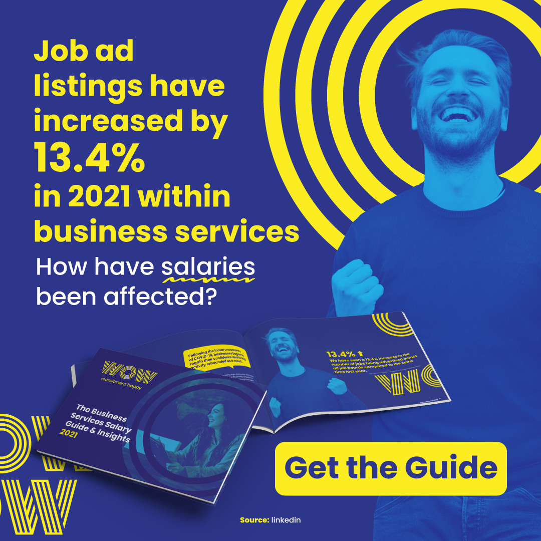 Earning what you should be? It could be time to hug your boss or time to make a change. Find out in our Business Services Salary Guide 2021. This way  https://wowrecruitment.com.au//the-business-services-salary-guide-insights-2021/