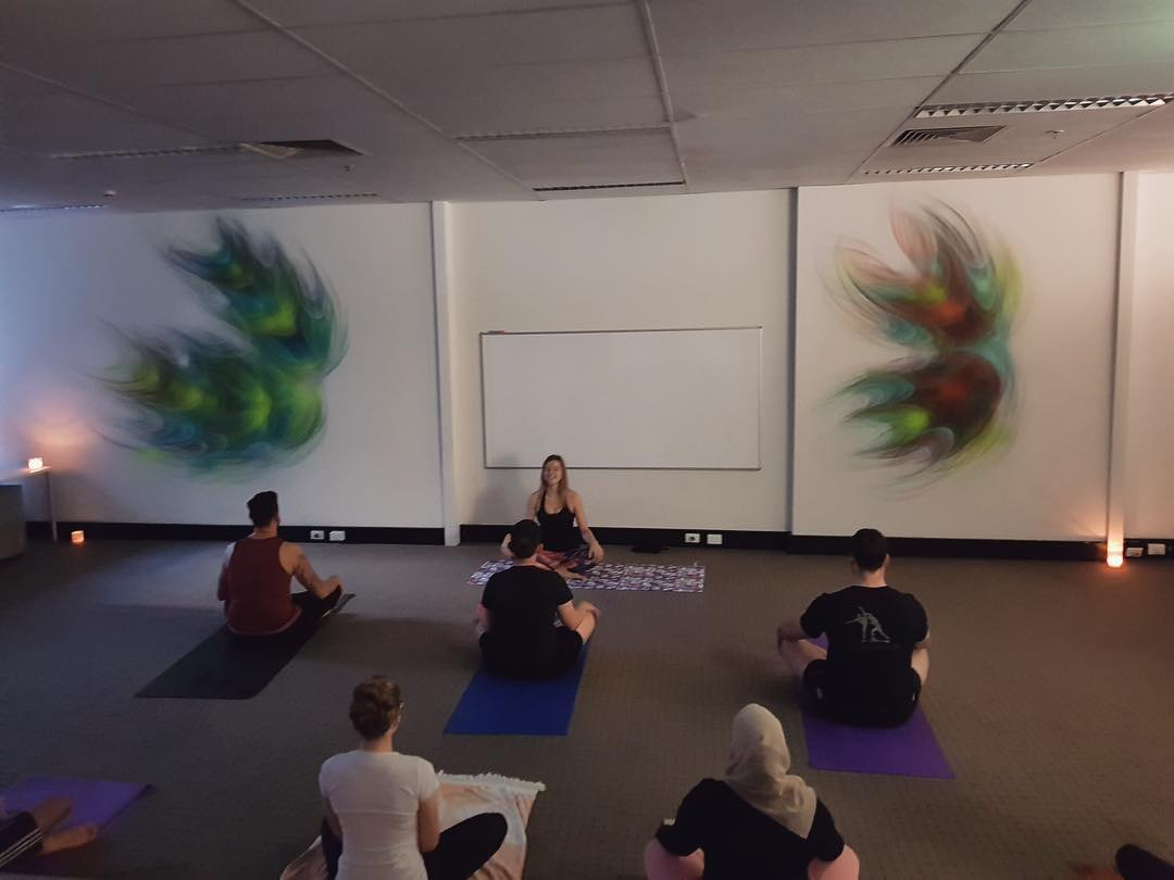 CORPORATE YOGA 🧘♀️🧘♂️•Looking to give back to your team? ♀️• Yoga can be a fun way to increase productivity and overall happiness in the work place •@emily_emsyoga provides corporate classes that can be done at any time of the day to suit your business. During lunch time or at the end of a busy working day. The gentle body movements are tailored so all levels of practitioners are able to join the classes. Try corporate yoga yourself with Em's Yoga! 🧘♀️•Contact Emily Visscherfor more information via emilyvisscher@hotmail.com