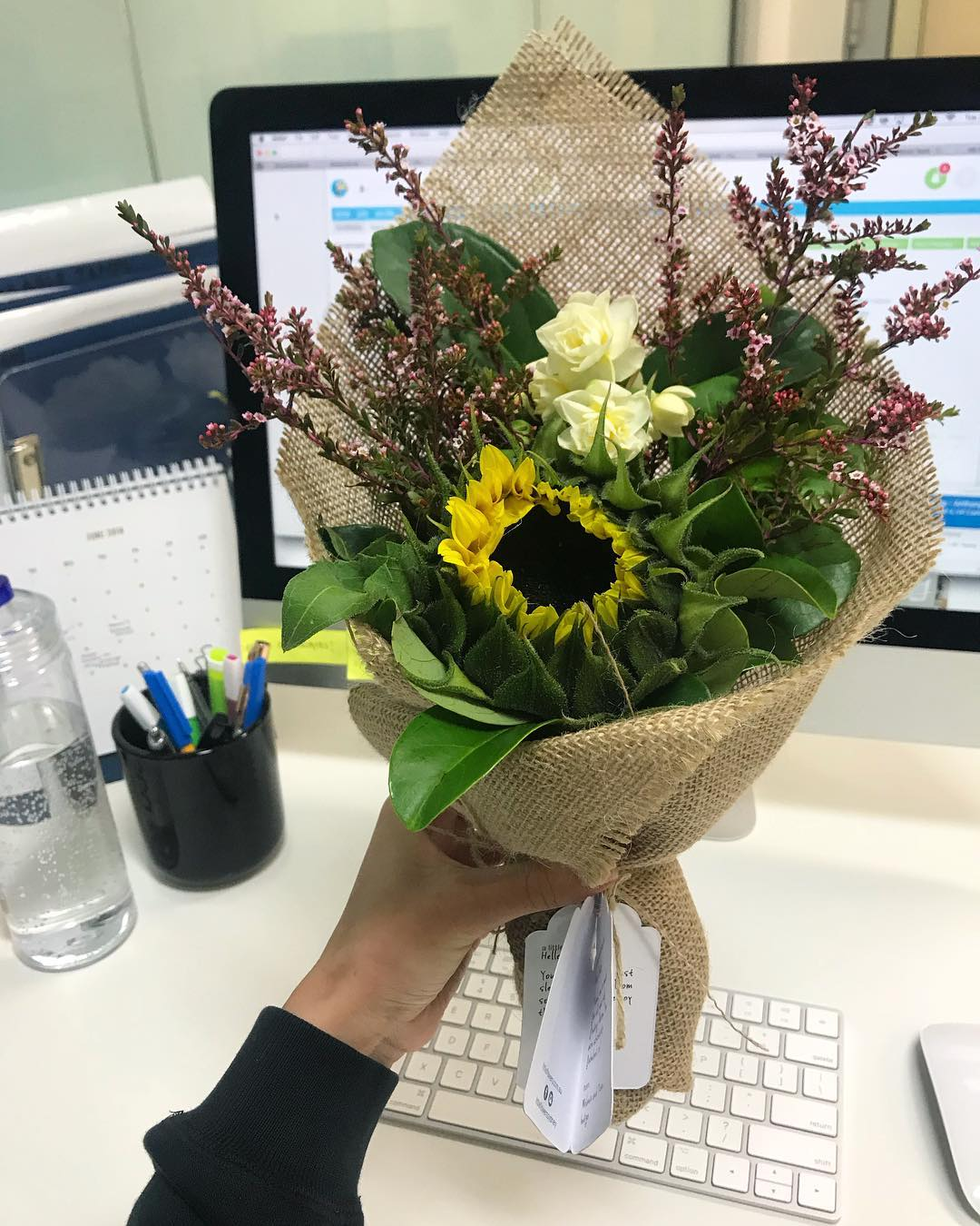 Beautiful flowers from a happy client after successfully placing a Lending Advisor for them ️🏼 Thank you