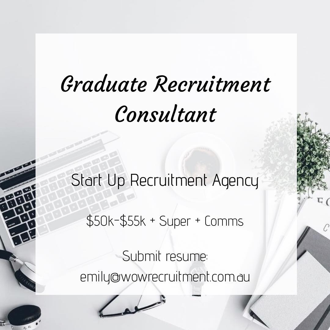 The Wow Recruitment team is growing!!!  We are looking for our next Graduate Recruitment Consultant - A junior superstar looking to join a fast growing start up Recruitment Agency specialising in Sales, Marketing and Business Services. Please reach out to Emily for more info - emily@wowrecruitment.com.au #wowrecruitment #joblisting #jobs #recruiter #recruitment