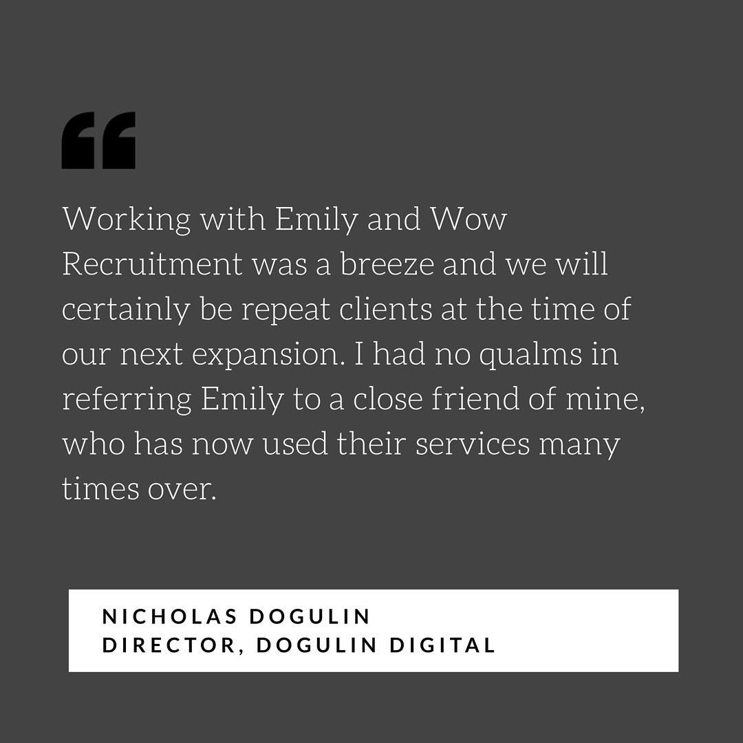 Happy Client = Happy Recruiter 🥂#recruiter #career #recruitment #testimonials #wowrecruitment