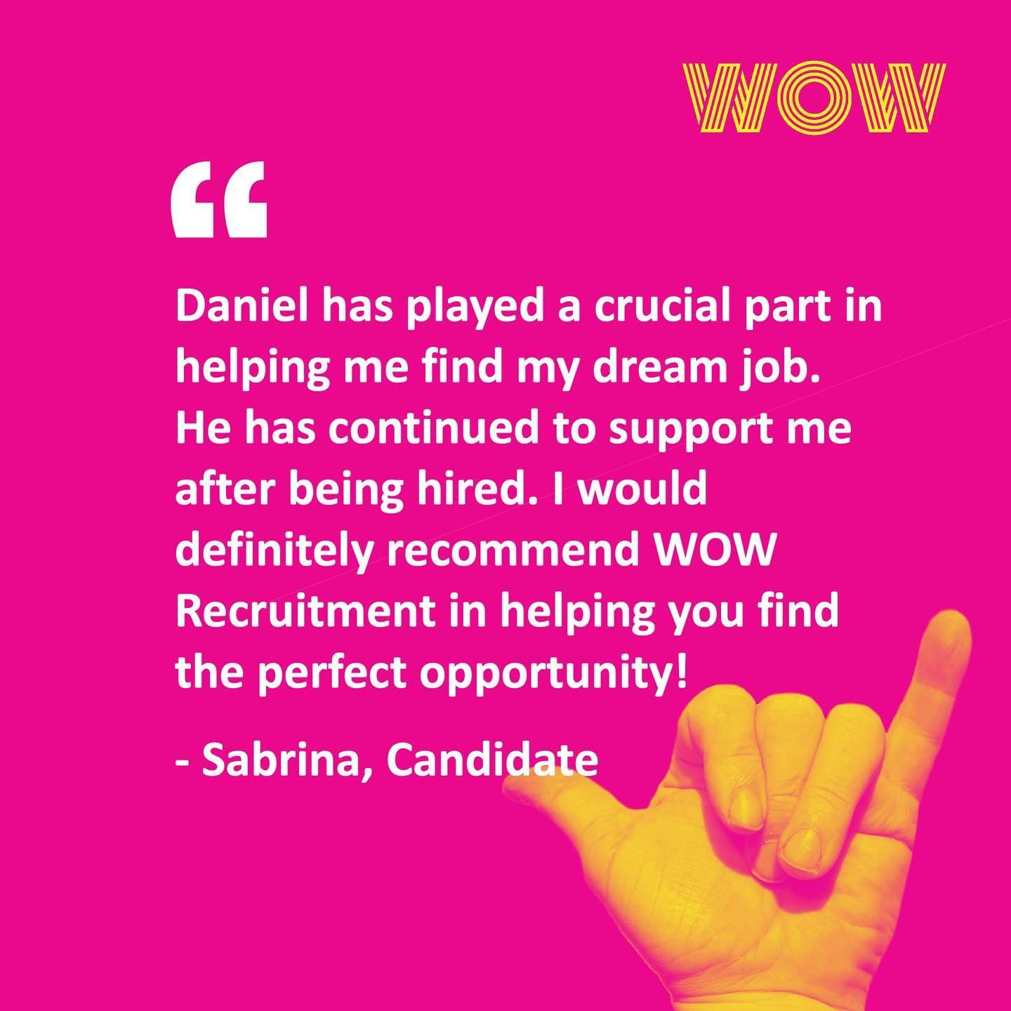 Here's what our candidates have to say about working with Daniel!