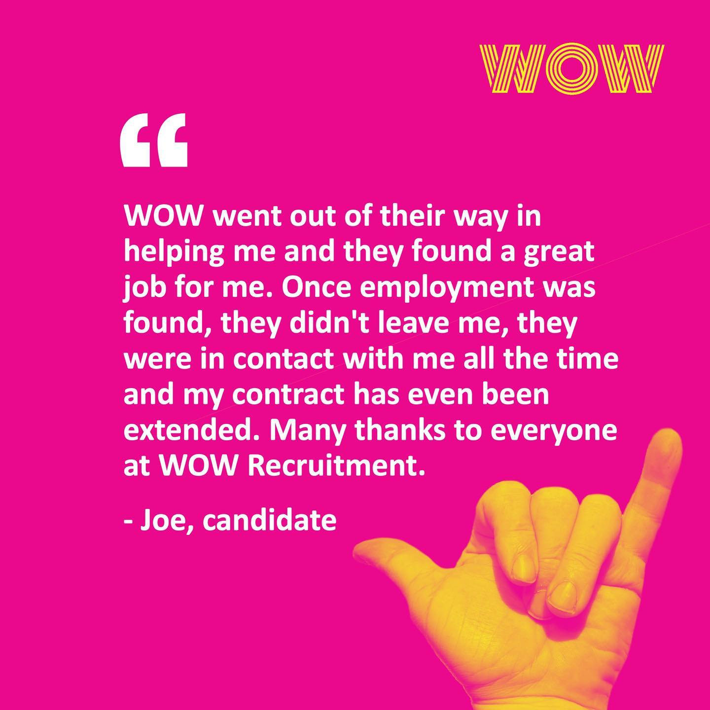 Here's what our candidate has to say about working with us