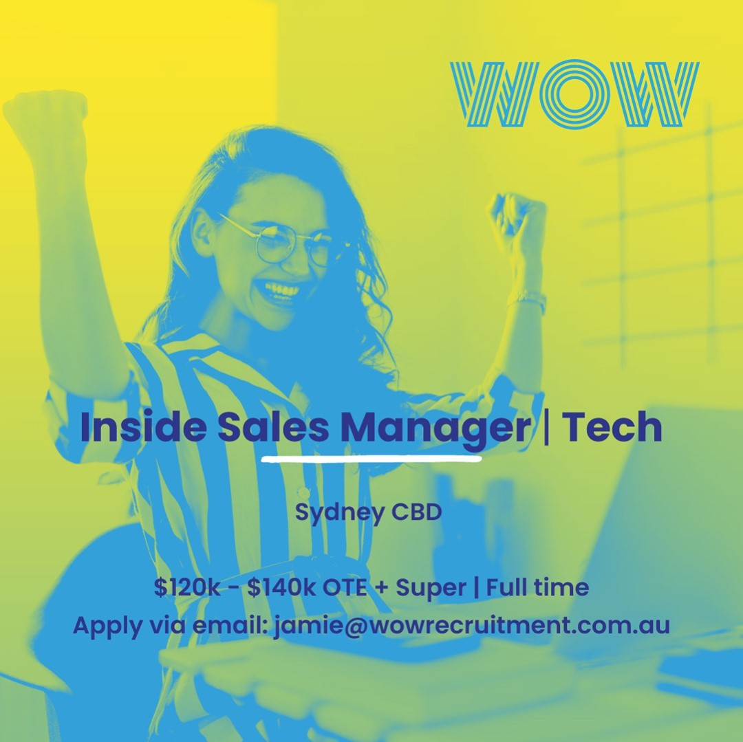 Join an engaged team and play a pivotal role in the accelerated growth of this flourishing Aussie Tech startup. On offer is a truly career-centric culture, great office location, and Friday drinks and gaming sessions to boot! Why wait? Get in touch now to find out more.#WorkHappy #SalesJobs #OfficeViews