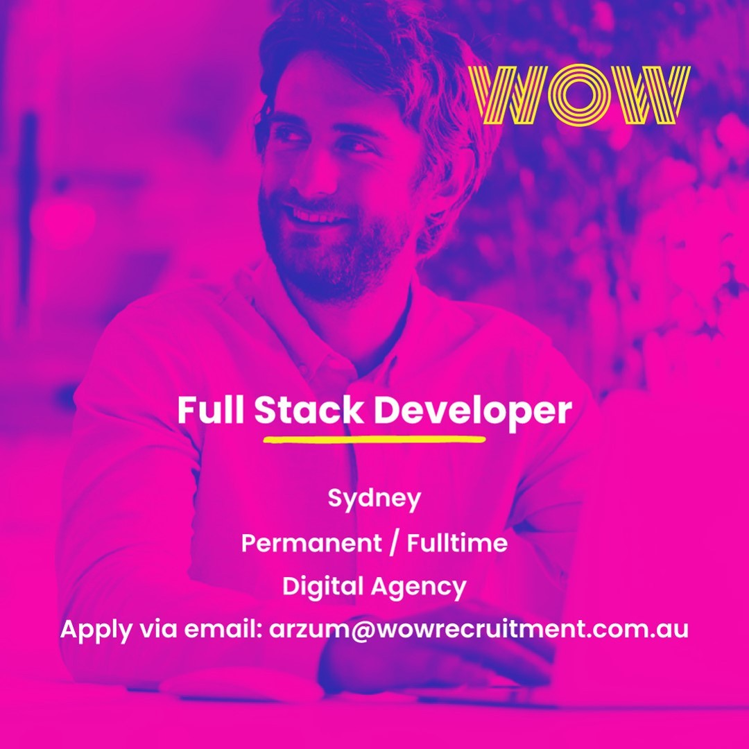 Join an agency that provides its clients with powerful digital transformations using the latest online trends and offers a sustainable competitive edge across the entire digital landscape. If you'd like to learn more or to apply please view the full job description here  https://wowrecruitment.com.au/job-detail/?id=1123762#RecruitmentHappy #WorkHappy #DeveloperJobs #DigitalTransformation