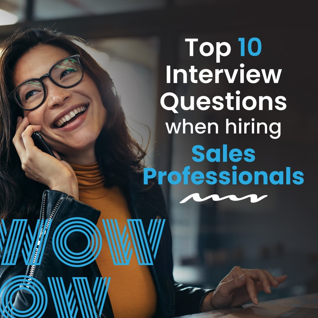 We all know it: making a bad hire can be detrimental. To avoid the serious pain that is poor performance and then having to hire all over again, asking the right questions during the interview is crucial. So, if you're looking for your next sales gun, here is our favourite interview advice specifically for hiring sales professionals. https://wowrecruitment.com.au/top-10-interview-questions-when-hiring-sales-professionals/#HireGreat #RecruitmentHappy #InterviewQuestions