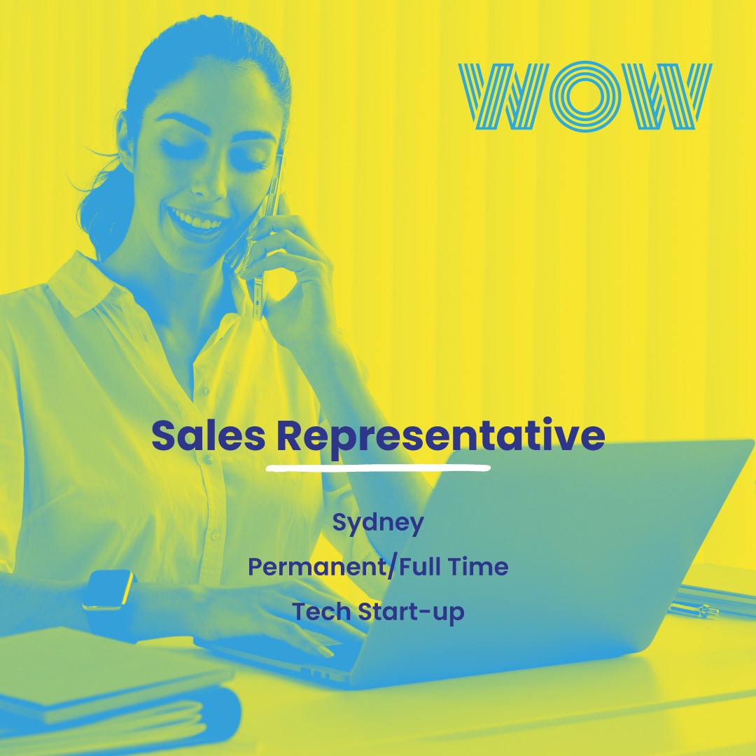 Step into the corporate world with no sales experience required! In this thriving tech start-up, you'll be working with an environmentally sustainable product, earning a fantastic base salary with a generous commission structure all while part of a supportive team that encourages having fun!Interested to know more? View the details, here https://wowrecruitment.com.au/job-detail/?id=1126206#RecruitmentHappy #WorkHappy #SalesJobs #StartUpCulture