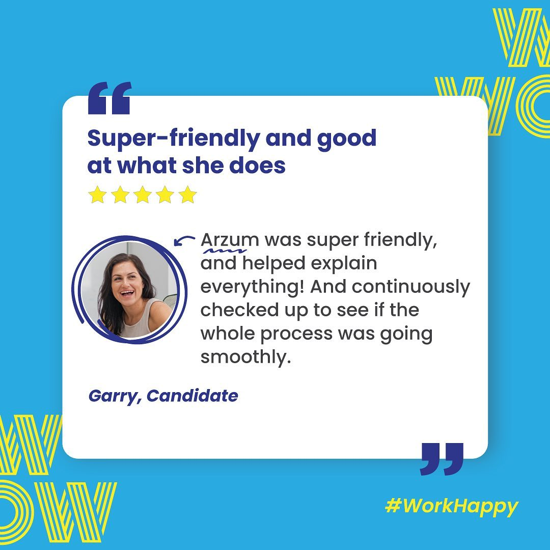 Friendly, communicative, efficient, that's Arzum.If it's time to turn your job into a career, we're waiting to help you make it happen, here https://wowrecruitment.com.au/contact-us-2 #WorkHappy #Wecruitment