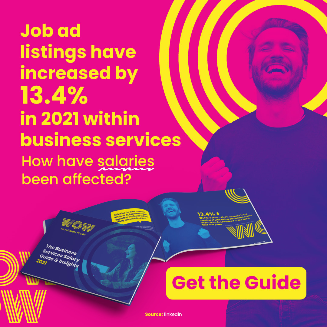 Time to find your new role in business services? We recommend starting your search with the right data set. Get your copy of our Business Services Insights & Salary Guide. Link in bio