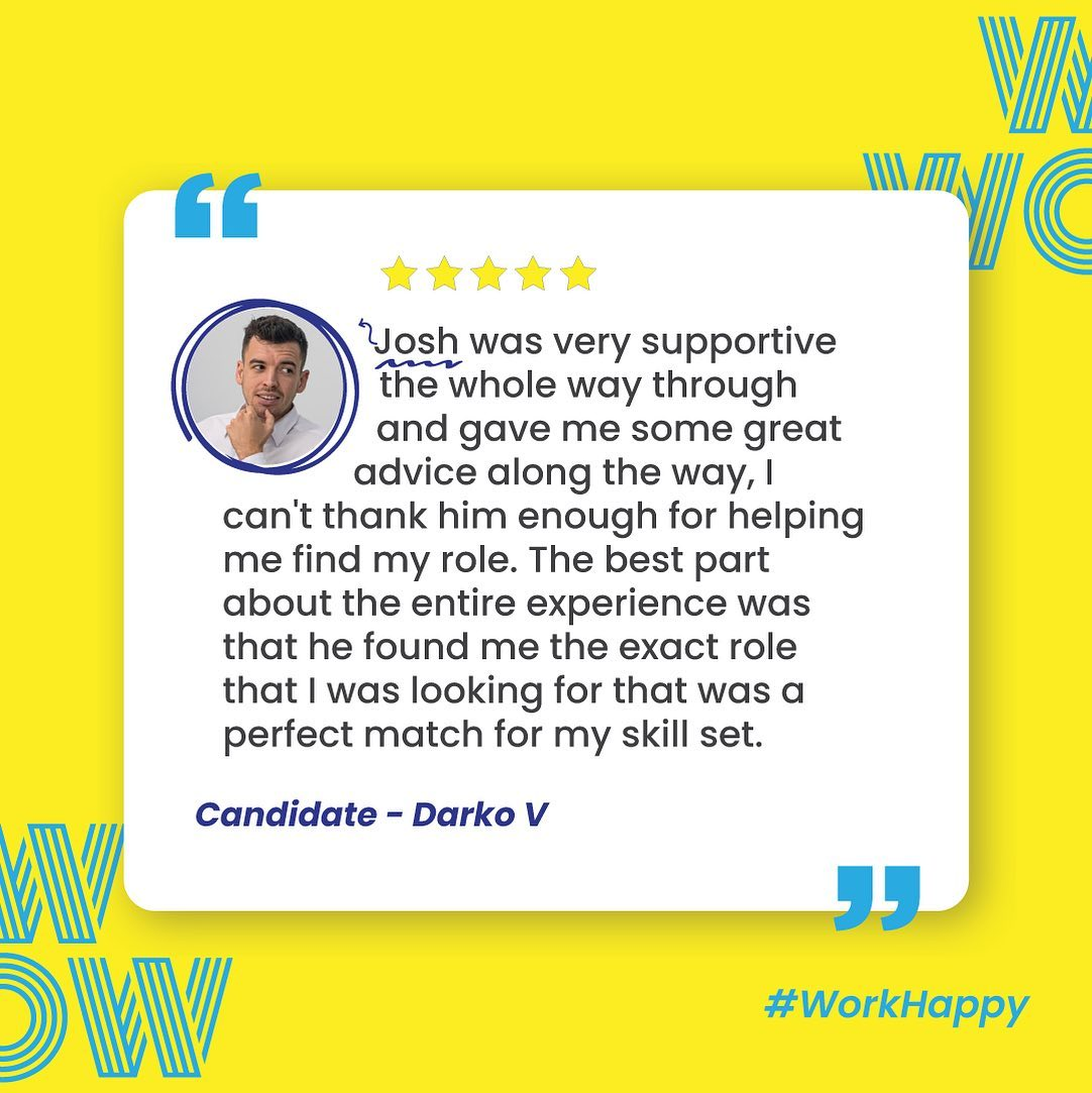 Our very own recruitment cupid with another perfect match.  Want the WOW experience? Contact Josh and the team today!#RecruitmentHappy #DoWhatYouLove #WorkHappy