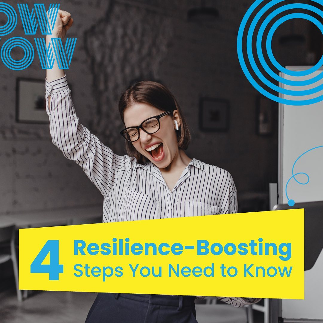 Resilience isn't just showing strength in adversity, it's building quality habits and sticking to them! Here are four of our favourites. #WorkHappy #Resilience #WorkFromHome
