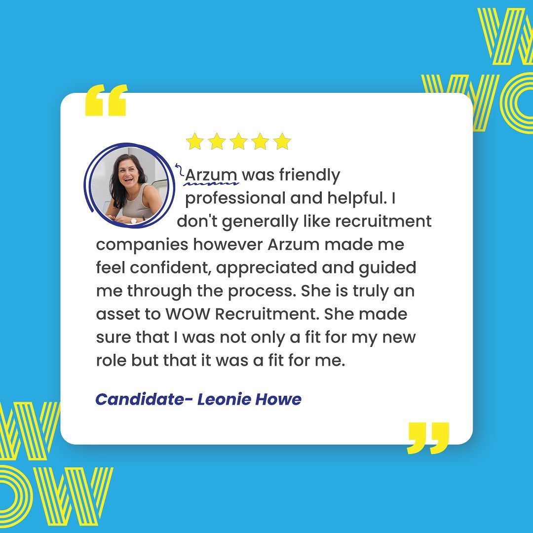 She did it again! 🤩Let Arzum and the team help you find the people that make your business tick (and tock). Link in bio #HireGreat #Wecruitment #Recruitment
